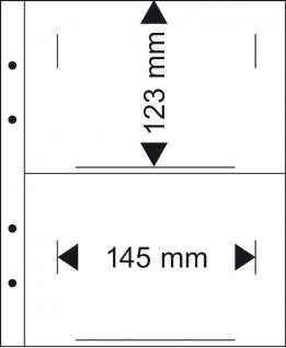 10 X LINDNER MU1362 Multi Collect Münzblätter 2 Taschen 145 x 123 mm Deutsche Euro Kursmünzensätze ST - Vorschau 2