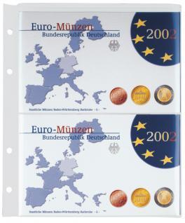 1 LINDNER MU1359 Multi Collect Blatt glasklar 1 Tasche 170 x 232 mm Deutsche Euro Kursmünzensätze PP - Vorschau 1