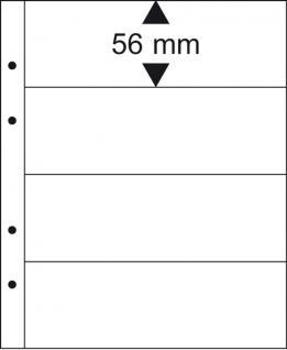 10 x LINDNER MU1314 Schwarze Multi Collect Einsteckblätter 4 Taschen 56 x 253 mm für Briefmarken Banknoten Papiergeld