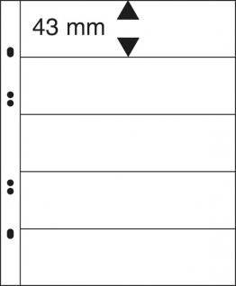 10 x LINDNER MU1315 Schwarze Multi Collect Einsteckblätter 5 Taschen 43 x 253 mm für Briefmarken Banknoten Papiergeld
