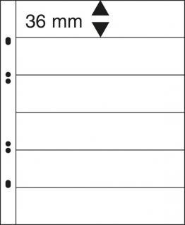 10 x LINDNER MU1326 Glasklare Multi Collect Einsteckblätter 6 Taschen / Streifen 36 x 253 mm für Briefmarken & Banknoten
