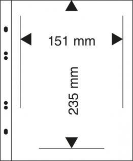 10 x LINDNER MU1330 Schwarze Multi Collect Einsteckblätter 1 Tasche 151 x 235 mm