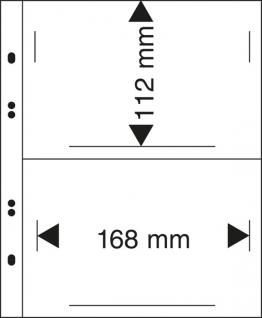 10 x LINDNER MU1342 Glasklare Multi Collect Einsteckblätter 2 Taschen 168 x 112 mm