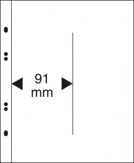 10 x LINDNER MU1347 Glasklare Multi Collect Einsteckblätter 2 Taschen 91 x 250 mm vertikal senkrecht Blocks Blister Folder Münzen - Vorschau 1