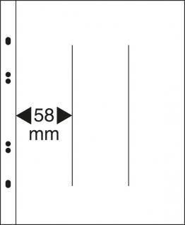 10 x LINDNER MU1348 Glasklare Multi Collect Einsteckblätter 3 Taschen 58 x 250 mm vertikal senkrecht Blocks Briefmarken
