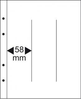 10 x LINDNER 1318 Schwarze Multi Collect Einsteckblätter 3 Taschen 58 x 250 mm vertikal senkrecht Briefmarken Blocks