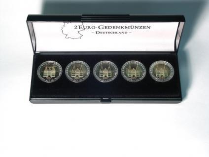 LINDNER 2090 Universal Münzetui 5 x 2 Euro Münzen Deutschland Deutsche Bundesländer Ideal für Hessen Frankfurter Paulskirche 2015