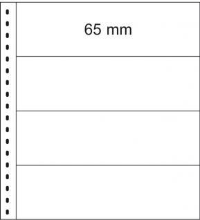 10 x LINDNER 852 Klarsichthüllen Banknotenhüllen 4 Taschen Streifen 240 x 65 mm mit schwarzen Zwischenblättern