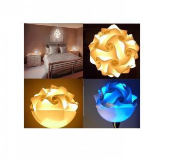 """Design Puzzle Lampen """" L """" Lampada Romantica Hängelampe Leuchte Retro - 3D Vintage Style für Innen - Aussenbereich Grösse 34 cm"""