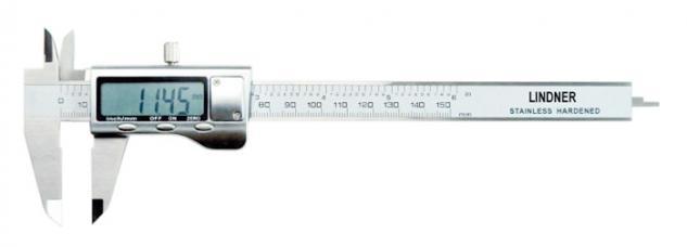 LINDNER 8044 Digitale Schieblehre LCD Anzeige Messbereich 0 - 150 mm Messeinheit 0, 01 mm Genauigkeit 0, 03 mm