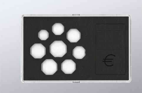 """SAFE 7903 Glasklare Stapelbare Acryl Münzetuis Münzenetuis Münz Etuis"""" Vista Libra """" für Euro Kursmünzensatz 1 Cent - 2 Euro - Vorschau 2"""