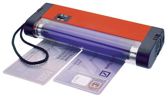 LINDNER 7080 UV Prüfer Prüfgerät Lampe 4W / 365 nm Briefmarken Geldscheine Banknoten Papiergeld ohne Batterien - Vorschau 1