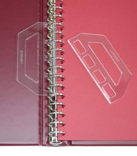 2 x LINDNER 799 Blattheber (Paar) für Ringbinder Album Banknoten Briefmarken