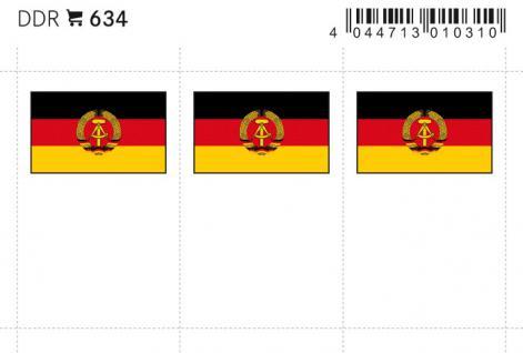 6 x LINDNER 634 DDR Flaggensticker Flaggen Signetten Sets zum aufkleben oder einstecken