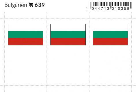 6 x LINDNER 639 Bulgarien Flaggensticker Flaggen Signetten Sets zum aufkleben oder einstecken