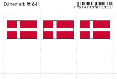 6 x LINDNER 641 Dänemark Flaggensticker Flaggen Signetten Sets zum aufkleben oder einstecken