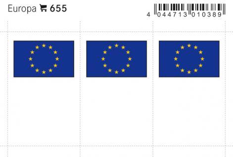 6 x LINDNER 655 Europa Flaggensticker Flaggen Signetten Sets zum aufkleben oder einstecken