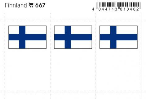 6 x LINDNER 667 Finnland Flaggensticker Flaggen Signetten Sets zum aufkleben oder einstecken