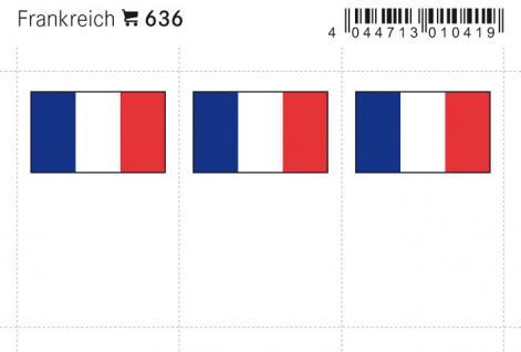 6 x LINDNER 636 Frankreich Flaggensticker Flaggen Signetten Sets zum aufkleben oder einstecken