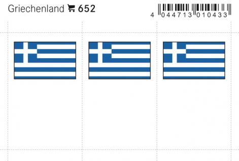 6 x LINDNER 652 Griechenland Flaggensticker Flaggen Signetten Sets zum aufkleben oder einstecken