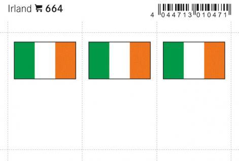 6 x LINDNER 664 Irland Flaggensticker Flaggen Signetten Sets zum aufkleben oder einstecken