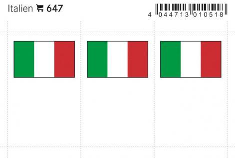 6 x LINDNER 647 Italien Flaggensticker Flaggen Signetten Sets zum aufkleben oder einstecken