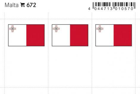 6 x LINDNER 672 Malta Flaggensticker Flaggen Signetten Sets zum aufkleben oder einstecken