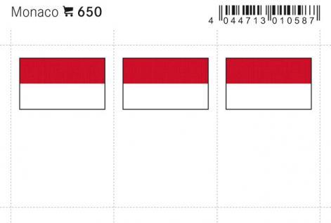 6 x LINDNER 650 Monaco Flaggensticker Flaggen Signetten Sets zum aufkleben oder einstecken