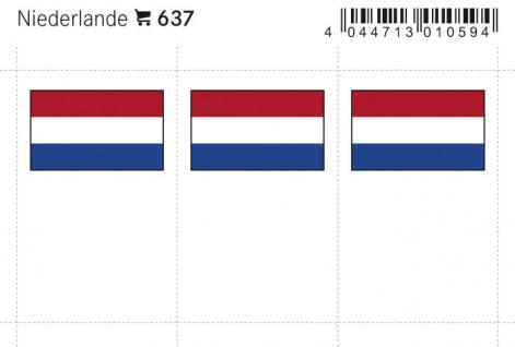 6 x LINDNER 637 Niederlande Flaggensticker Flaggen Signetten Sets zum aufkleben oder einstecken