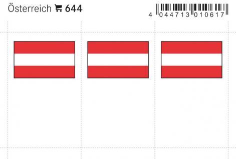 6 x LINDNER 644 Österreich Flaggensticker Flaggen Signetten Sets zum aufkleben oder einstecken