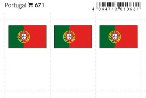 6 x LINDNER 671 Portugal Flaggensticker Flaggen Signetten Sets zum aufkleben oder einstecken