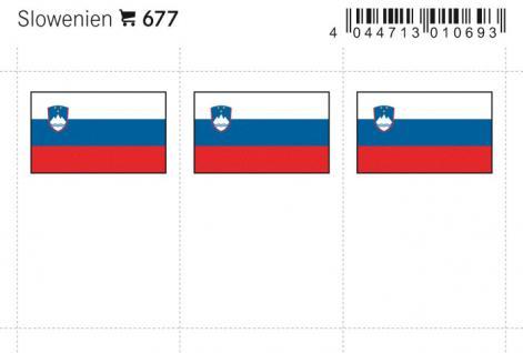 6 x LINDNER 677 Slowenien Flaggensticker Flaggen Signetten Sets zum aufkleben oder einstecken