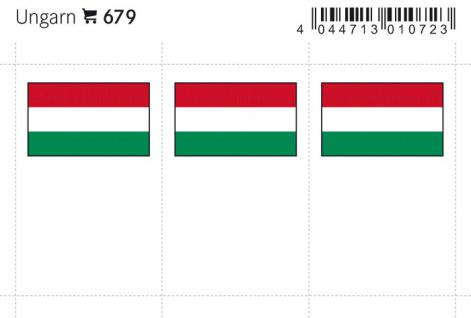 6 x LINDNER 679 Ungarn Flaggensticker Flaggen Signetten Sets zum aufkleben oder einstecken