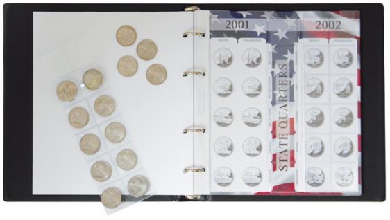 """LINDNER 1106SC Münzalbum Karat """" State Quarters """" 25 Cent-Münze Gedenkmünzen - Vorschau 3"""