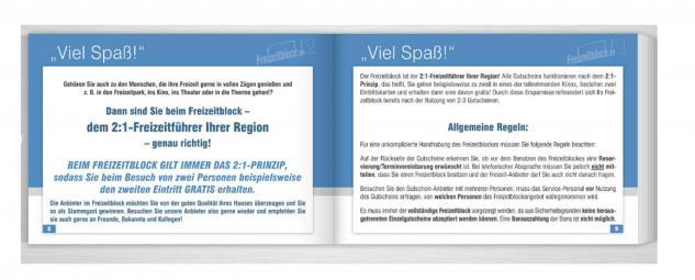 Freizeitblock Thüringen 2015-2016 Gutscheinbuch FREIZEIT GUTSCHEINE RABATTE PORTOFREI IN DEUTSCHLAND - Vorschau 3