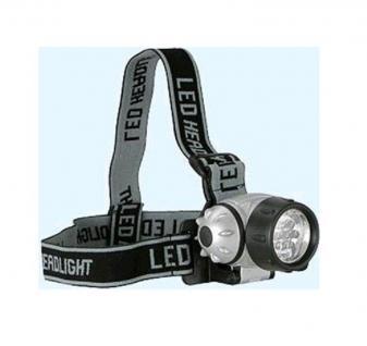 Grundig Stirnlampe 7 x LED Kopflampe Kopfleuchte 3 Funktionen 1 LED - 3 LED - 7 LED - Angeln Fahrrad Camping Klettern Werkstatt - Vorschau 4