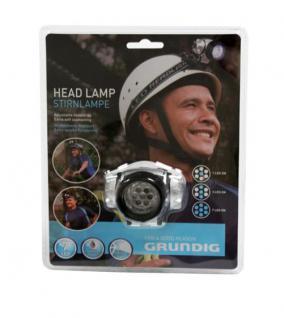 Grundig Stirnlampe 7 x LED Kopflampe Kopfleuchte 3 Funktionen 1 LED - 3 LED - 7 LED - Angeln Fahrrad Camping Klettern Werkstatt - Vorschau 1