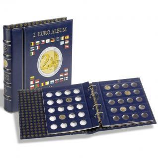 LEUCHTTURM 341017 VISTA EURO Münzalbum 2 EUROMÜNZEN Gedenkmünzen + 4 Blättern