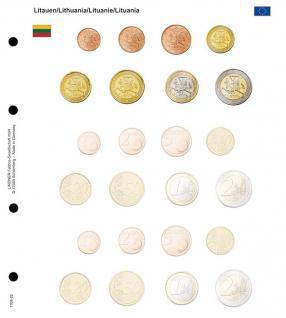 1 x Lindner 1108-22 Karat Vordruckblatt EURO Litauen Kursmünzensätze KMS