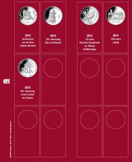 SAFE 7342-7 Premium Münzblätter Ergänzungsblätter Münzhüllen 7392 mit Vordruckblättern Deutsche 10 Euro Gedenkmünzen 2015 - Vorschau 1