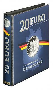 LINDNER S1520 Münzalbum Sammelalbum für Deutsche 20 EURO Silbermünzen mit 3 Karat Münzblättern - Vorschau 2