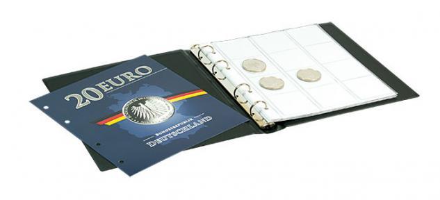 LINDNER S1520 Münzalbum Sammelalbum für Deutsche 20 EURO Silbermünzen mit 3 Karat Münzblättern - Vorschau 3