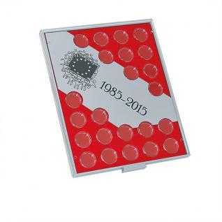 LINDNER S2923 Münzbox Münzenboxen Münzboxen 30 Jahre Euro Flagge + Münzkapseln 26 - Vorschau 2