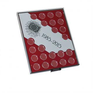 LINDNER S2923 Münzbox Münzenboxen Münzboxen 30 Jahre Euro Flagge + Münzkapseln 26 - Vorschau 1