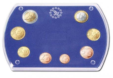 """SAFE 7901 Glasklare Stapelbare Acryl Münzetuis Münzenetuis Münz Etuis"""" Vista Libra Blau """" für Euro KMS Kursmünzensatz 1 Cent - 2 Euro - Vorschau"""