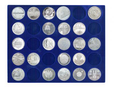 SAFE 5896 Elegance Holz Münzkassetten mit 3 Tableaus 6332SP Für 90 x 10 Euro / DM Münzen Deutschland - Vorschau 2