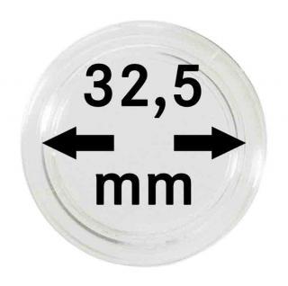 25 SAFE MÜNZKAPSELN Münzenkapseln Capsules Caps 32, 5 mm mit Rand für 10 & 20 Euro Münzen