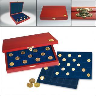 SAFE 5897 Elegance Holz Münzkassetten mit 4 Tableaus 6337SP Für 80x 20 Euro Münzen Gedenkmünzen Deutschland in Münzkapseln 32, 5 PP ohne Rand oder Münzen bis 37, 5 mm