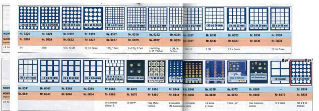 SAFE 5883 Elegance Münzkassetten mit 3 Tableaus MIXED 79 x Fächer für Münzen 27 - 41 mm - Vorschau 3