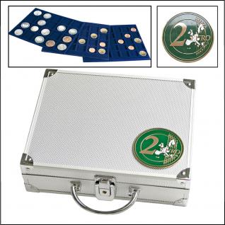 SAFE 172 ALU Münzkoffer 6 Tableaus 6334 für 180 Münzen bis 32 mm & 2 EURO Münzen Gedenkmünzen in Münzkapseln 26 - Vorschau 1